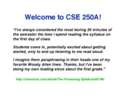 cse250aadministration