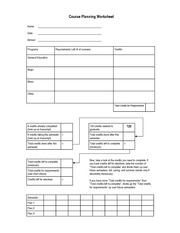 Course Planning Worksheet