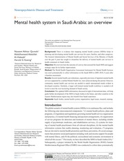 Mental health system in Saudi Arabia an overview
