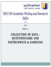 RES_500_-_W11_-_Collection_of_Data_-_Questionnaires_and_Instruments__Sampling_rev