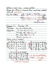 Linear Programming Lecture 7