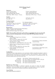 Syllabus Fall 2011