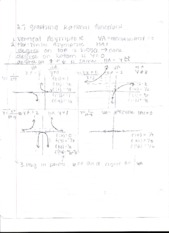 2.7 and Exponential Function Notes
