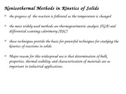 Nonisothermal kinetics in solids