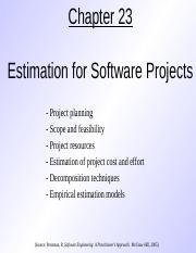Estimation for Software Products - SE