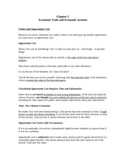 ECON 2301 Notes Chapter 2
