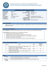 Teaching Plan -241 ME06_