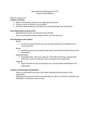 Organization and Management 10:18 notes