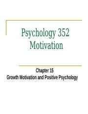 Psy 352 Motivation Ch 15 - Fall 2014.pptx