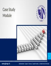 Case study module - GBS session 1