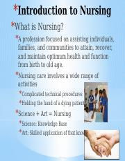 Chapter 1 Introduction to Nursing Final(1)