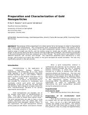 Lab A-Gold Nanoparticles