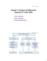 Chapter 7 Solution of Differential Equation
