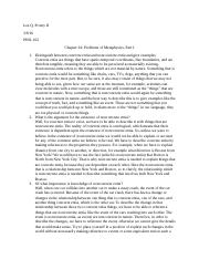 Chapter 24 Problems of Metaphysics Part I