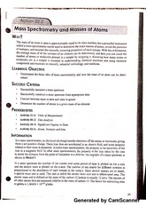 Mass Spectrometry and Masses of Atoms Worksheet