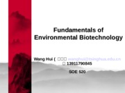 Introduction of envrionmental biotechnology
