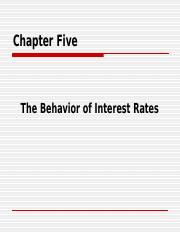 (BBA)2014_CH5_Behavior of Interest Rate