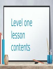 Level-One-Lesson-Contents.pptx