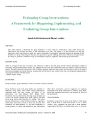 Evaluate Large Group Intervention