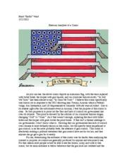 rhetorical analysis essay on political cartoon