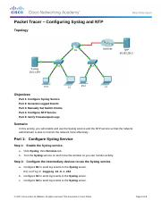 10.2.3.5 Packet Tracer - Configuring Syslog and NTP Instructions.docx