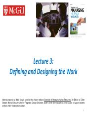 Ch 3 - Defining & designing the work