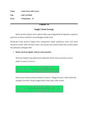 CHAPTER 10 SUPPLY CHAIN STRATEGY.doc