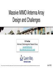 Massive MIMO antenna array challanges