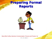 Formal Reports (1)