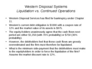 Western Disposal Systems Example