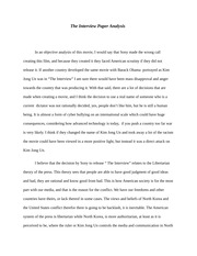 The Interview Paper Analysis Essay