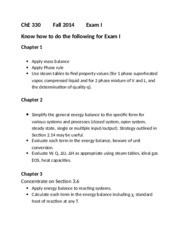 ChE 330 Know for Exam I (Chapter 1-5)