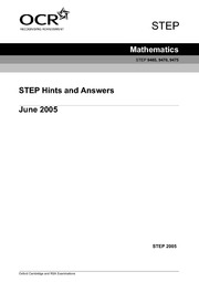 2005 Hints and Answers