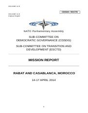 2014 - 153 JOINT 14 E  -  Mission Report Morocco.doc