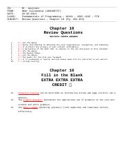Chapter 10 - Review Questions - Omar Villanueva ( A00108737 )