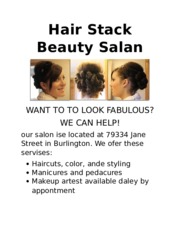 Analyze 1-1 Beauty Salon Flyer Draft