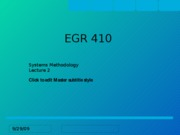 EGR 410 SS 09 lecture 2