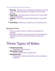 Principles of Management- The Four Management Functions