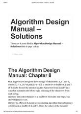 skiena algorithm design manual solutions