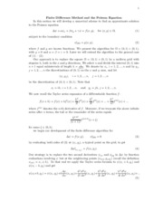 Finite Difference Method and the Poisson Equation