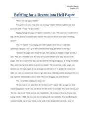 Briefing for a Decent into Hell Paper Part 1