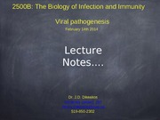 Lecture 12 Virology Lecture 6