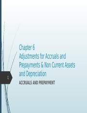 ACC2211 Chapter 6 Adjustments For Accruals And Prepayments & Non Current Assets And Depreciation.ppt
