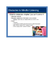 Obstacles to Mindful listening