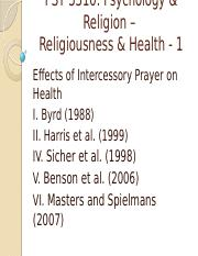 PSY 3310 - 22 - Religiousness & Health - 1 - Instructor.pptx