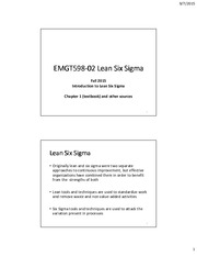 1. Introduction to Lean Six Sigma