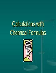 9 Calculations with Chemical Formulas.ppt