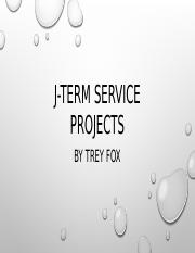 J-Term Service Projects.pptx