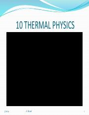 10 THERMAL PHYSICS