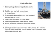 Topic 7 Casing Design